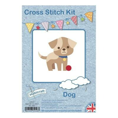 Hoop Cross Stitch kit - Dog