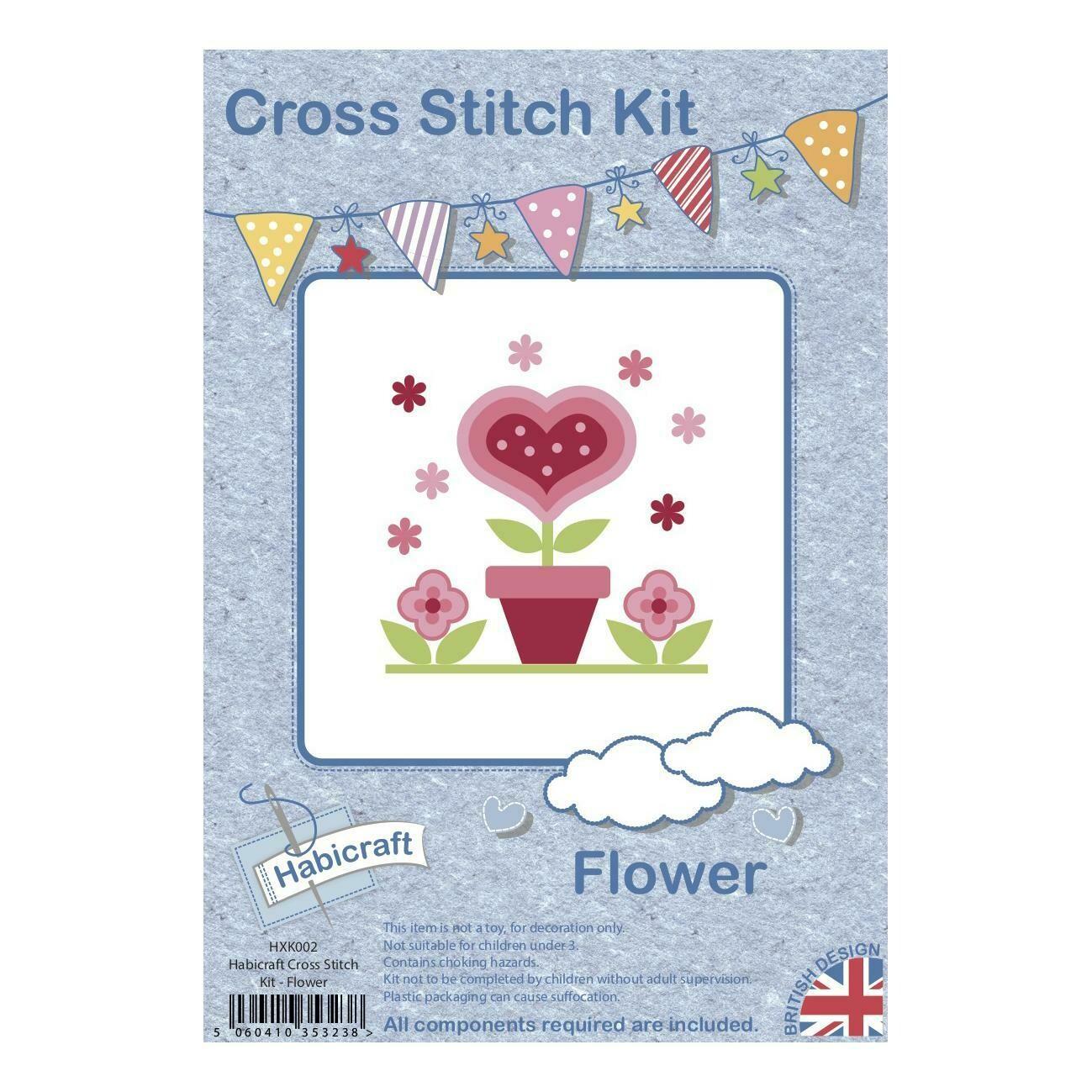 Hoop Cross Stitch kit - Flower