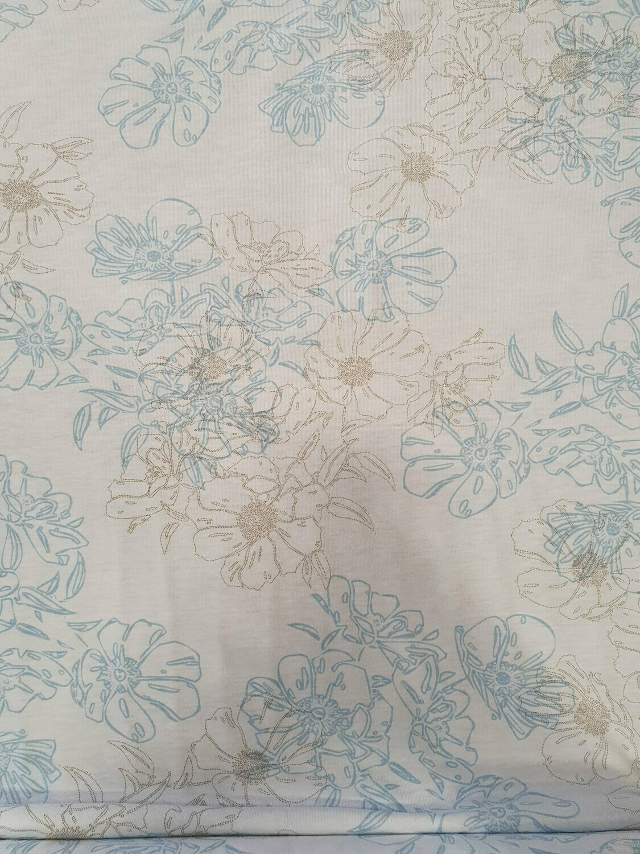 Soft floral cotton jersey