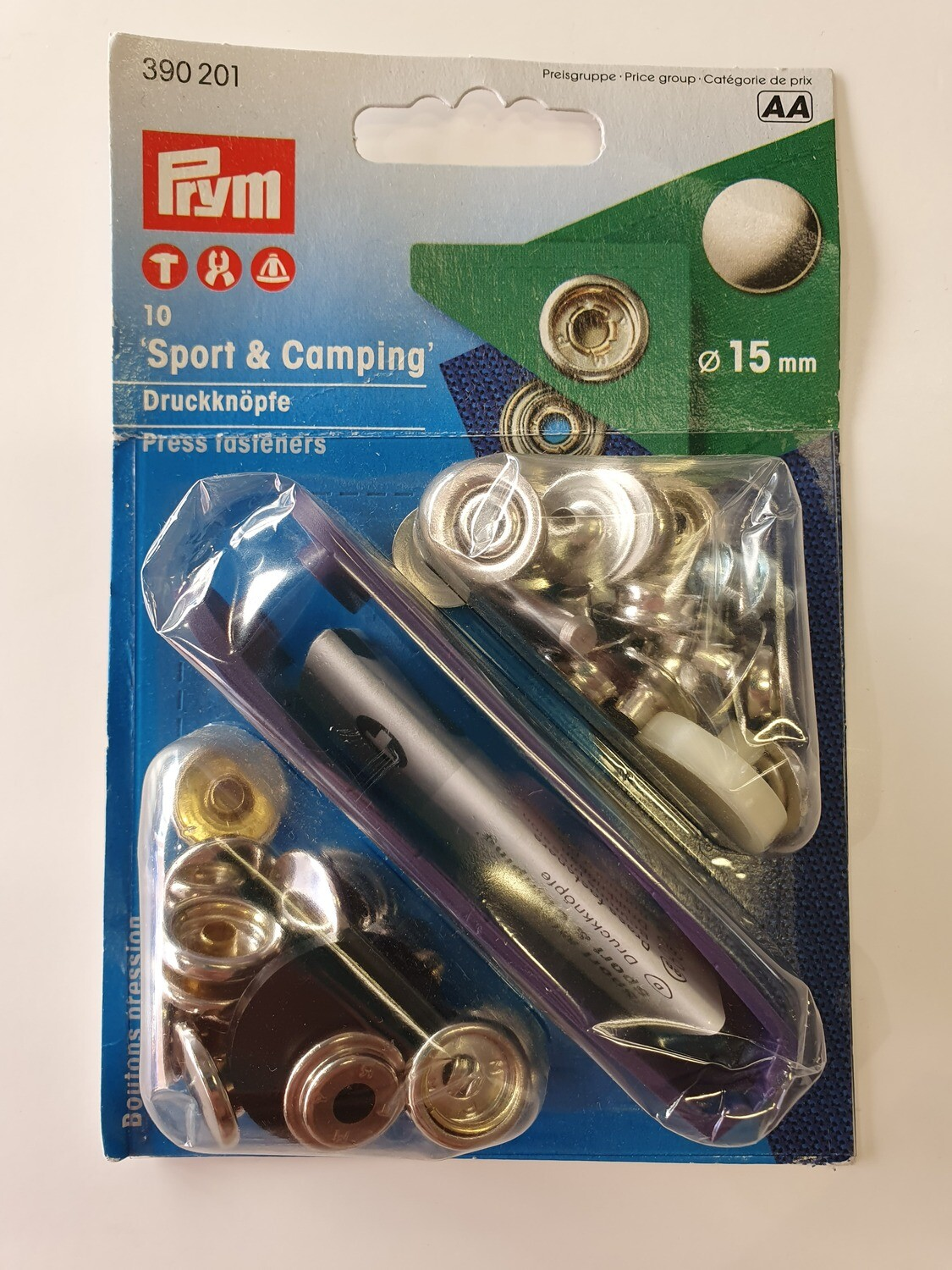Sport and Camping Snap Fasteners 15mm