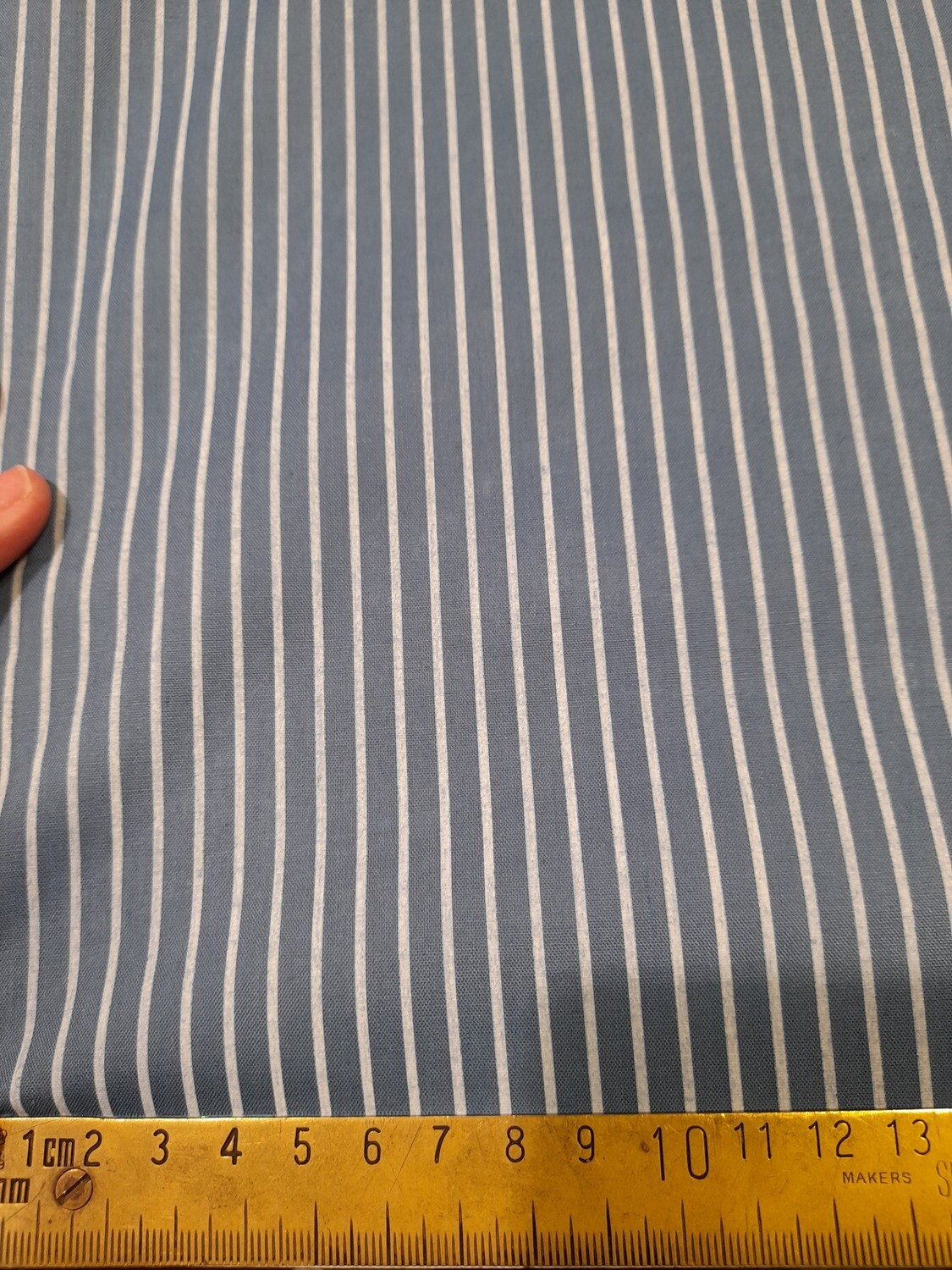 Blue with white stripes