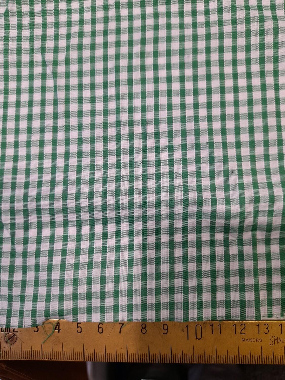 Emerald green/white gingham