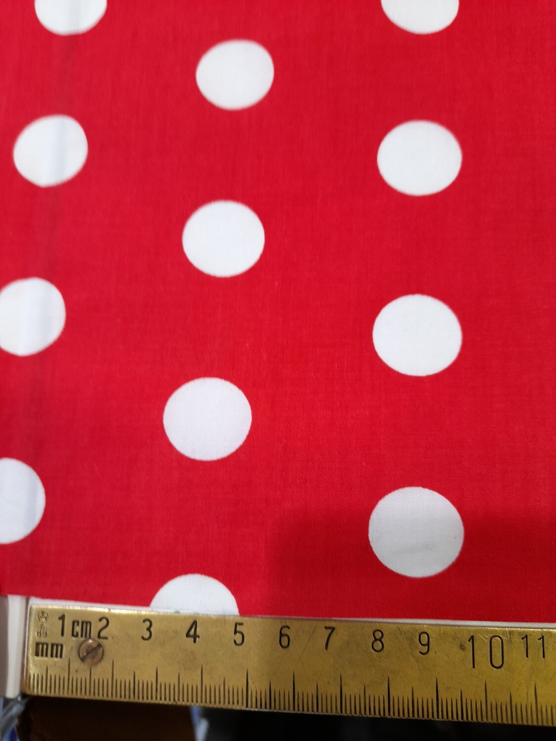 Red with White spot