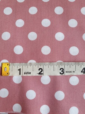 Dotty - Polka Dots - Pink with white spots