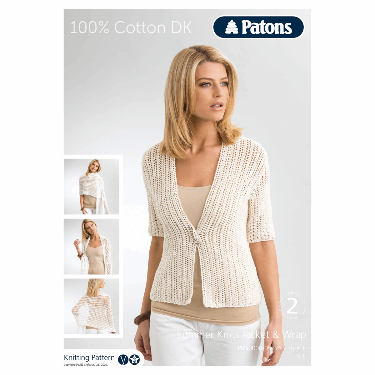 Summer Knits Jacket and Wrap in 100% cotton by Patons
