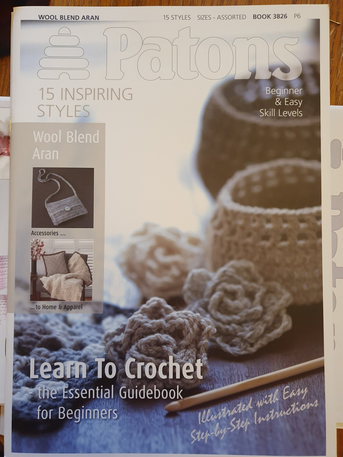 Learn Crochet using Wool Blend Aron by Patons