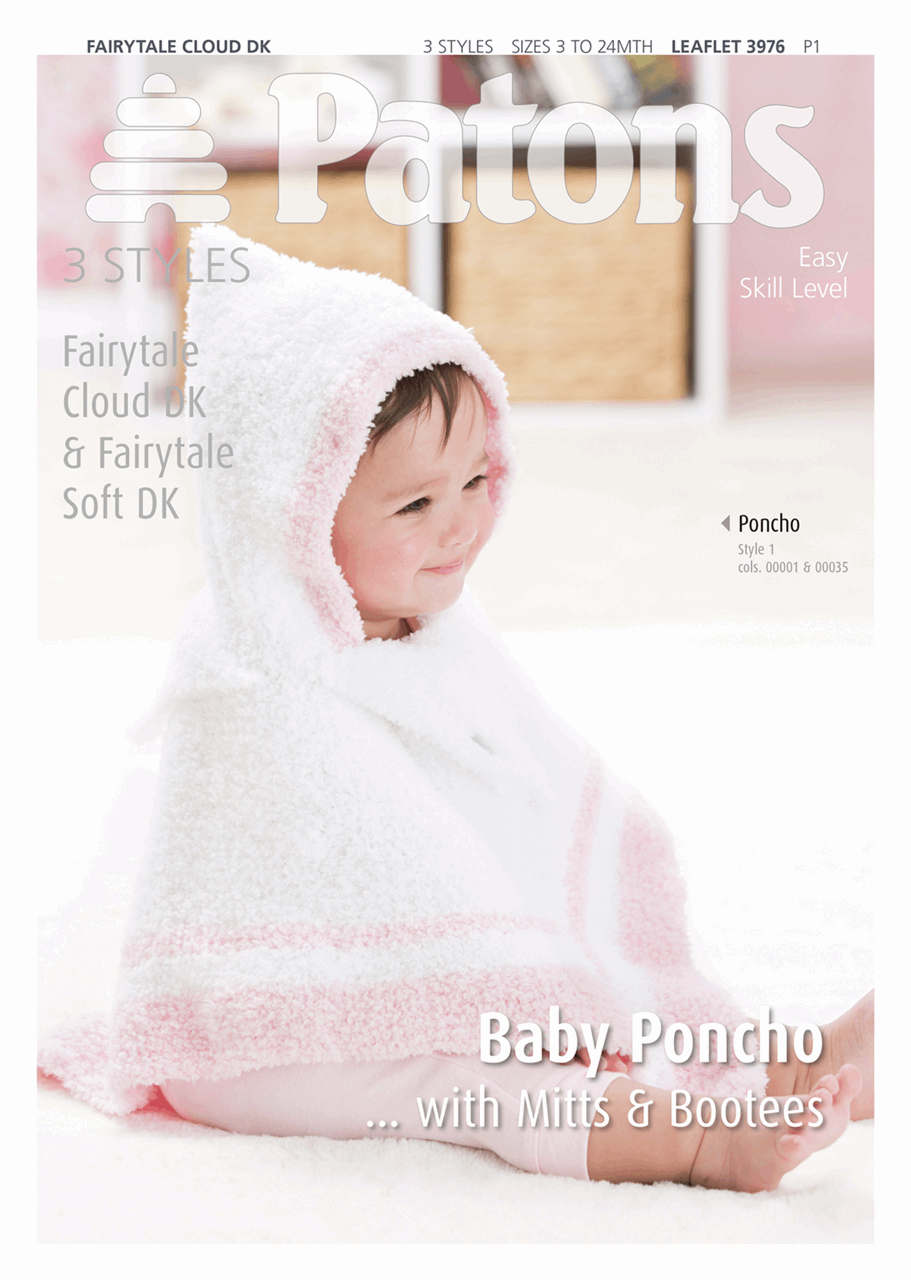 Baby Poncho and Accessories by Patons