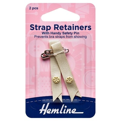 Shoulder Strap Retainer with Safety Pin: Nude