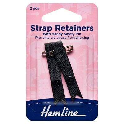 Shoulder Strap Retainer with Safety Pin: Black