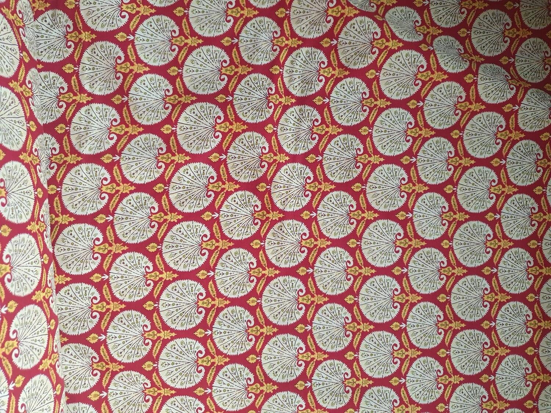 Pima Cotton Lawn - Red fans