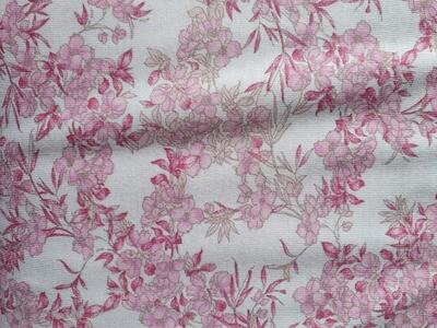Cotton Jesery - pink flowers