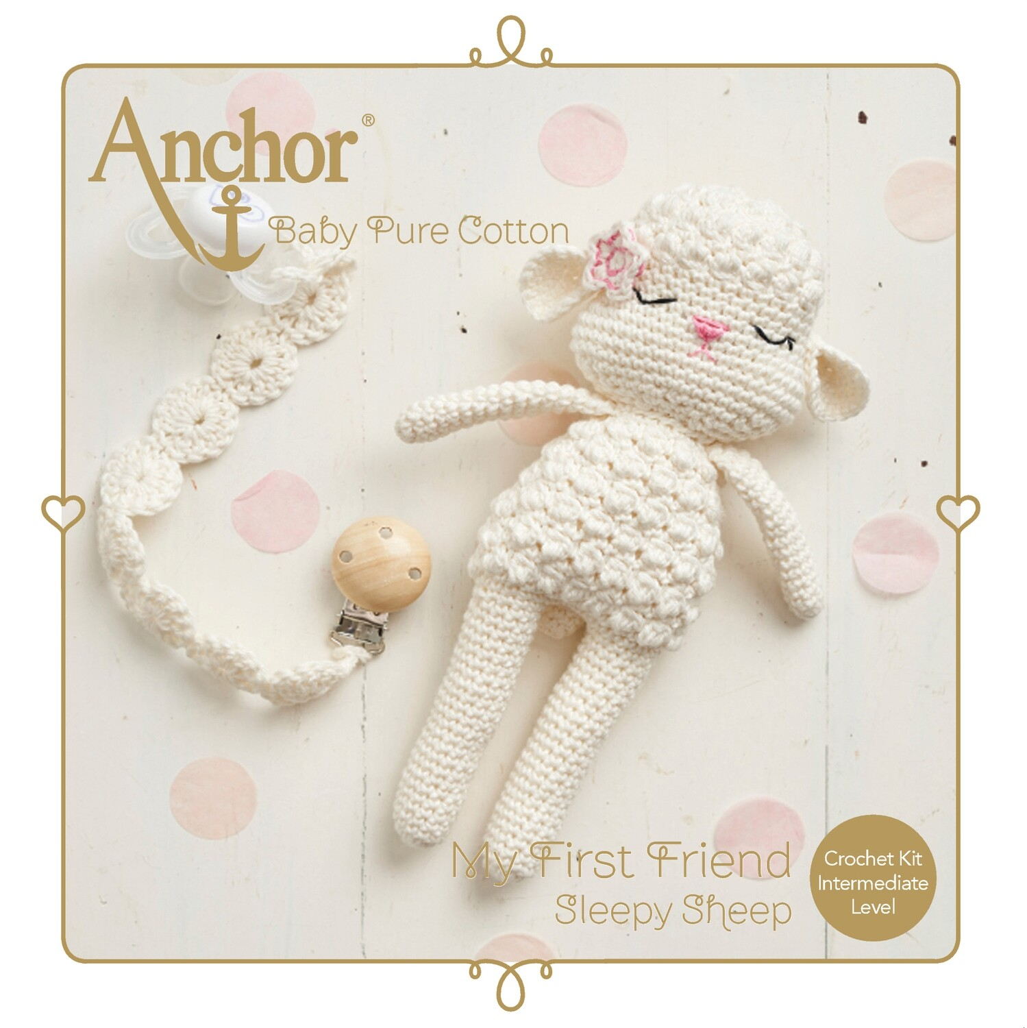 Crochet Kit Pure Cotton Sleepy Sheep