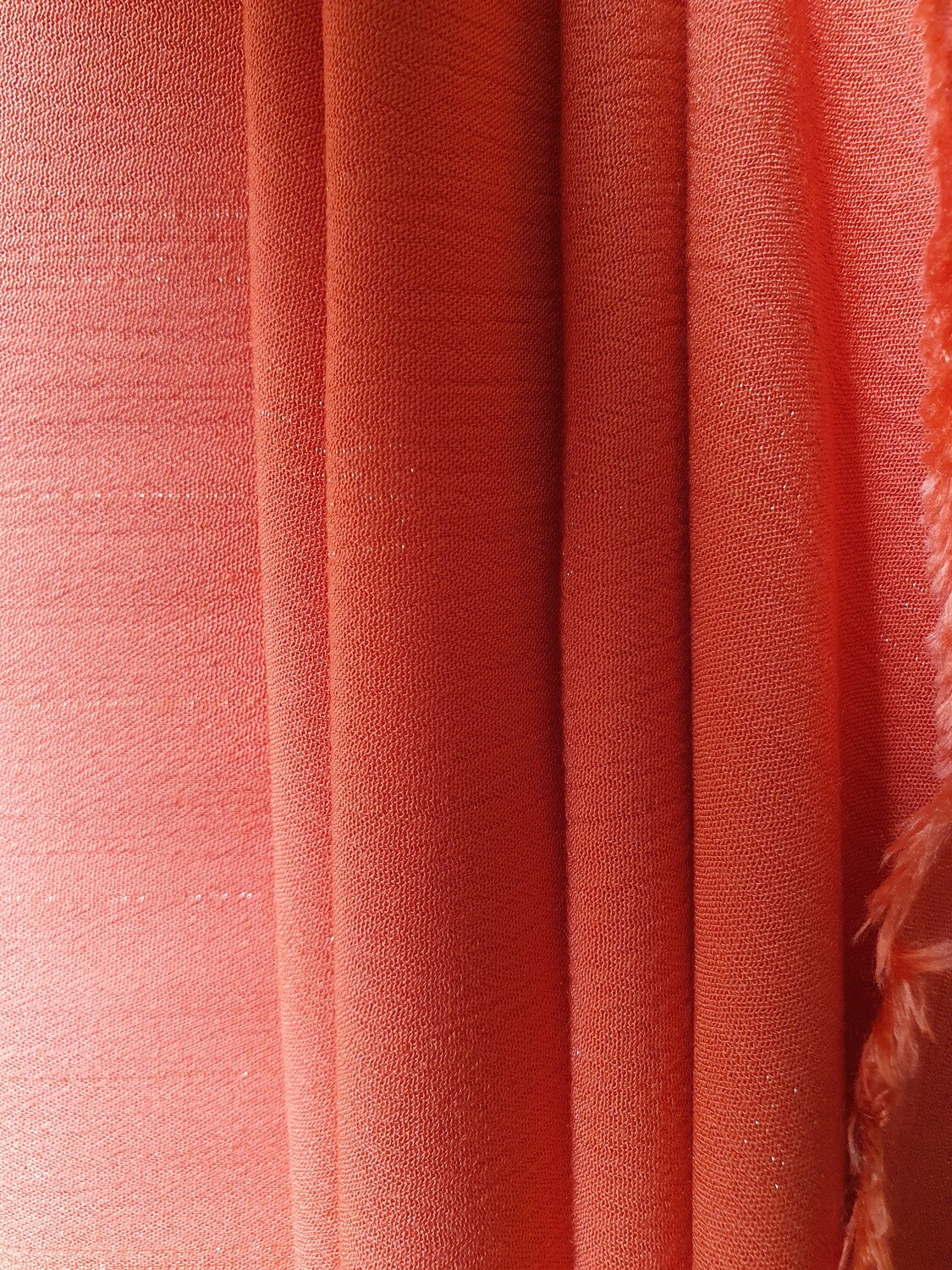 Viscose Crinkle - Orange/Gold