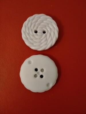 Fine Style button Size44 White 28mm