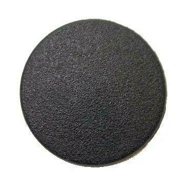 Matt black shank button