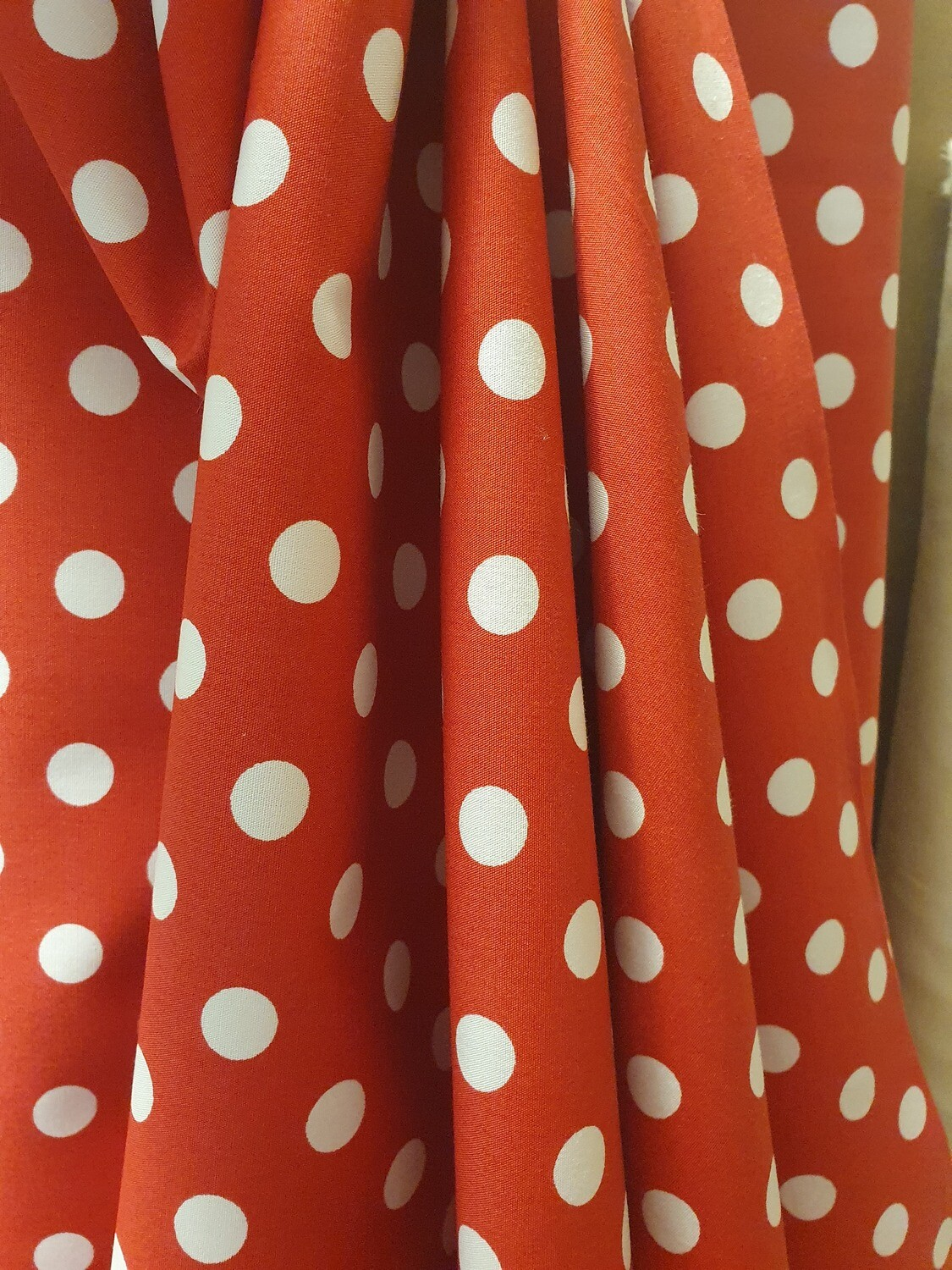 Polka Dots - Red with white spots