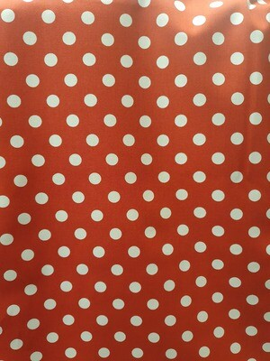 Dotty - Cotton Poplin - Red with White Spots