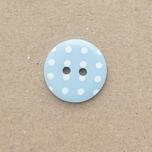 Polka dot buttons Blue/White