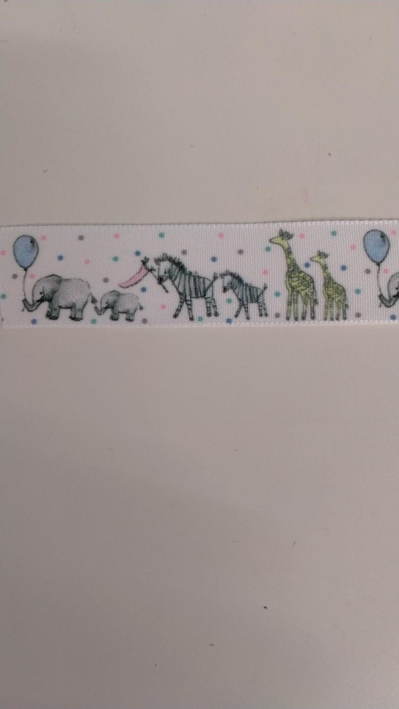 Ribbon 25mm Animal Parade