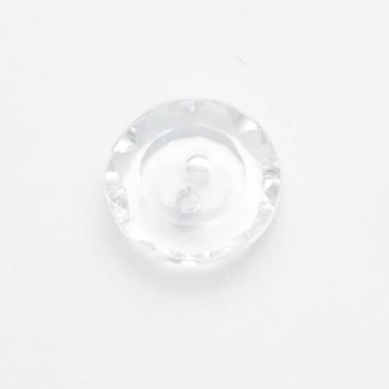 Button 14mm four hole Clear