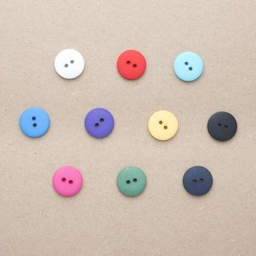 Button 18mm two hole turquoise