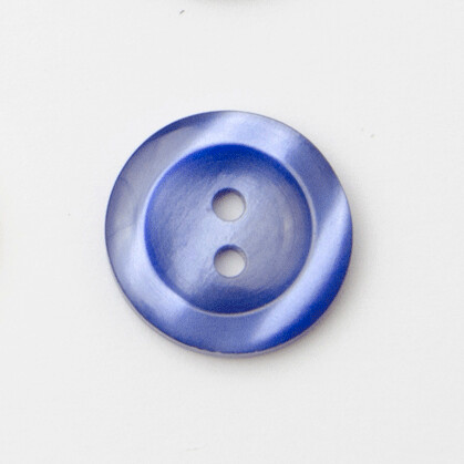 Button 18mm two hole navy
