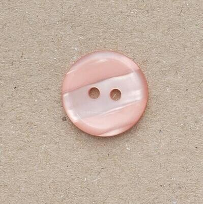 Button 18mm two hole peach