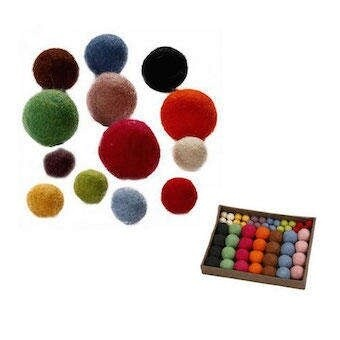 Felt Balls 52 assorted sizes