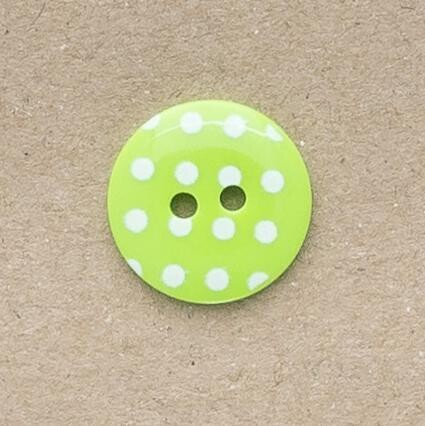 Button Pastel with White spot 12mm
