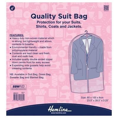 Hemline Suit Bag 60x9x100cm