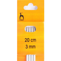 Knitting Needles 20cm x 3.0mm double end Pony