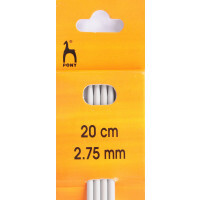 Knitting Needles 20cm x 2.75mm double end Pony