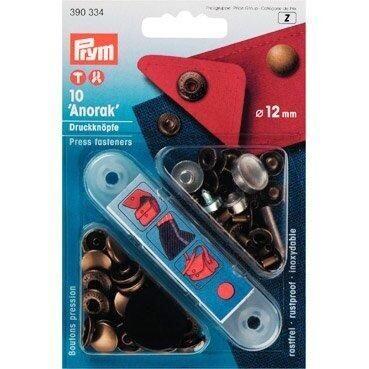 Press Fasteners 12mmx10 Bronze