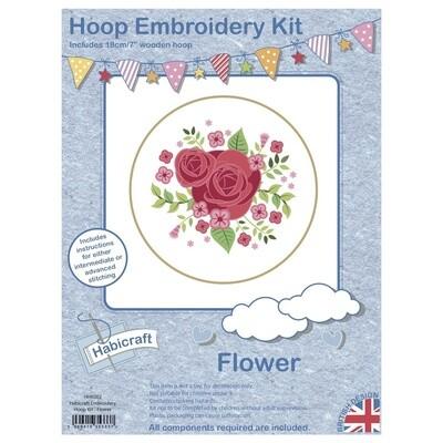 Flower Embroidery Kit 18cm Hoop