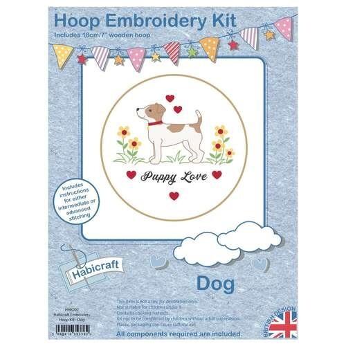 Dog Embroidery Kit 18cm Hoop