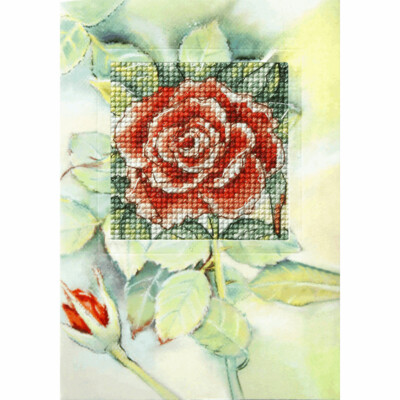 Counted Cross Stitch Kit Greetings Card: Butterfly and Gerbera