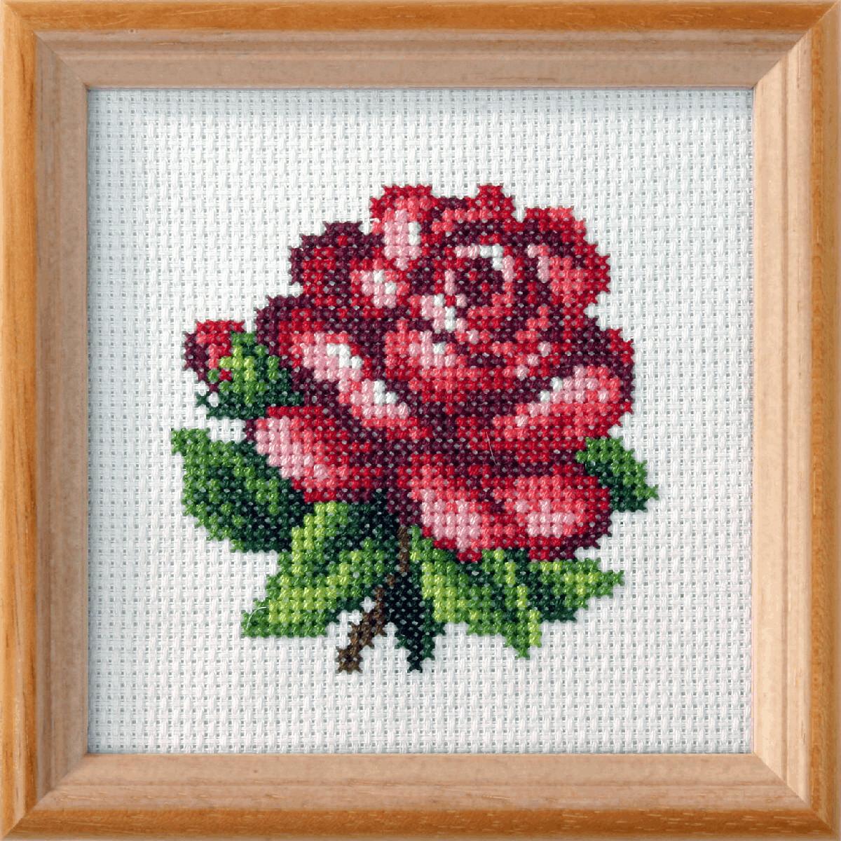 Cross Stitch Kit: Red Rose