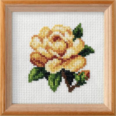 Cross Stitch Kit: Yellow Rose
