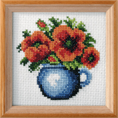 Cross Stitch Kit: Poppies