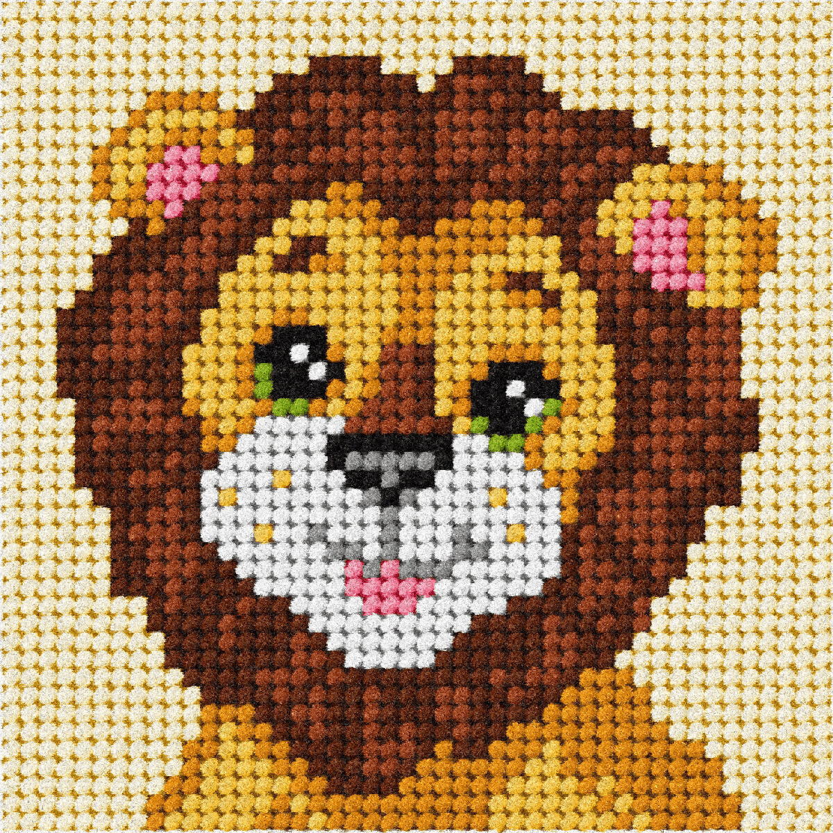 My first embroidery-  Lion