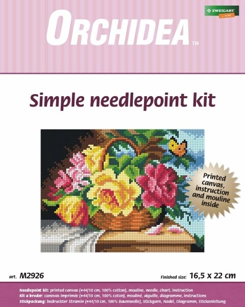 Embroidery Kit: Roses in a Basket