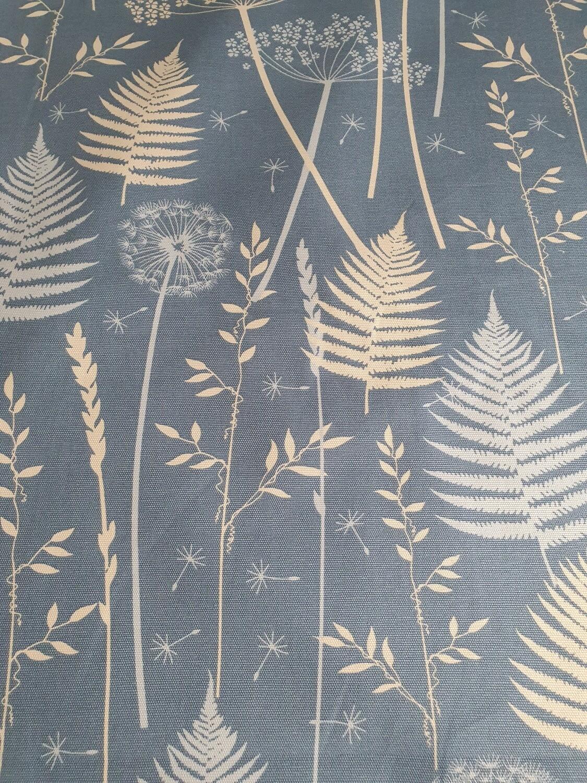 Jemima - Cotton Duck - Steel Blue Dandelion