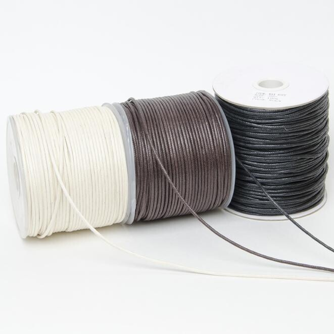 Thonging Waxed Cord 1mm Natural