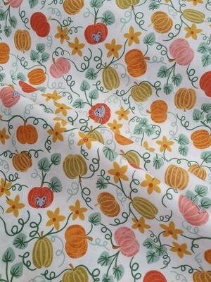 Scarecrow Acres/ pumpkins- Cotton