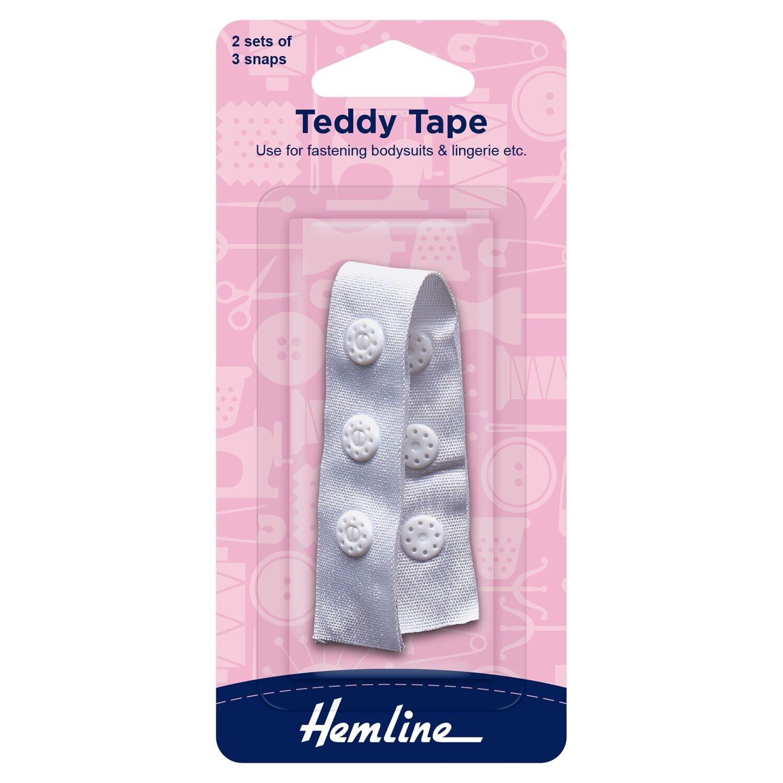 "Teddy Snap Tape 9cm / 3 1/2"" White"