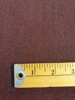 Betty - 35% Wool, 60% Poly, 5% viscose - wine/Black herringbone