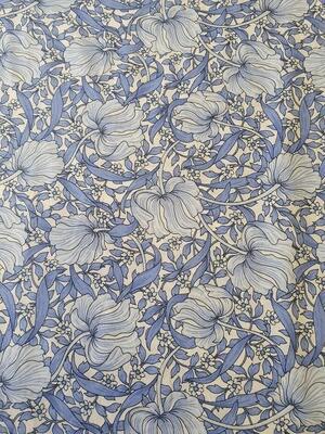 Edith - 100% Pima Cotton Lawn - blue