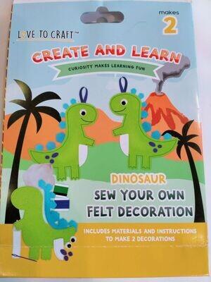 Felt Dinosaur Kit Trimcraft