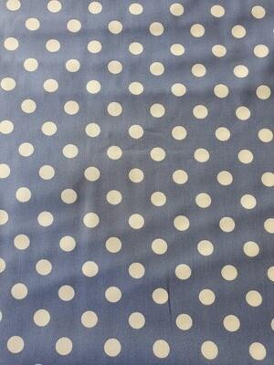 Dotty/ cotton poplin - Pale blue with white spots