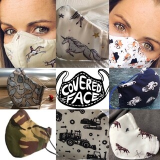 Novelty Print 100% cotton Face Mask
